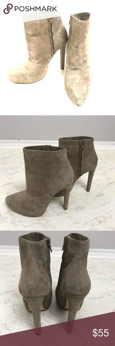 Zara basic collection suede nude ankle boots 36 Good condition Zara Shoes Ankle Boots & Booties