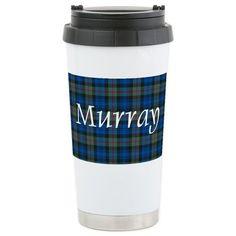 CafePress - Tartan - Murray Stainless Steel Travel Mug - Stainless Steel Travel Mug, Insulated 16 oz. Coffee Tumbler