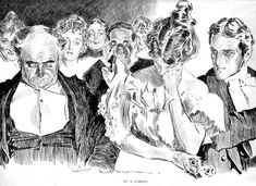 Charles Dana Gibson   American Graphic Artist 1867 - 1944 Titled: At a Comedy