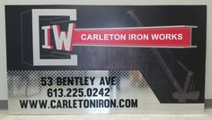Diamond plate and brushed silver were used in conjunction with a printed base image and black cut vinyl, giving this sign a custom feel.