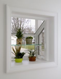 Simonton offers replacement garden windows in custom sizes to meet your needs. They're the perfect kitchen windows for ventilation & natural light! Kitchen Garden Window, Garden Windows, Kitchen Windows, Small Greenhouse, Plant Shelves, Contemporary Garden, Window Styles, How To Make Bed, Small Gardens