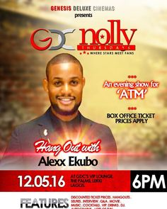 #Breaking. @nollythursdays is back!!!! The next edition of GDCs Nolly Thursdays will hold on May 12th. Our special guest for this edition of GDCs Nolly Thursdays is Alexx Ekubo. To win a free ticket simply tell us two movies Alexx has acted in repost this and tag a friend.  P.S: The first correct answer wins.
