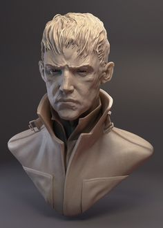 The Outsider Dishonored fanart 3d Model Character, Character Modeling, Character Art, Zbrush, Statues, Digital Sculpting, 3d Figures, Facial Anatomy, Cg Art