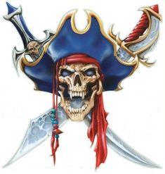 Pirates Create a Vampirate skull Skull Pirate, Pirate Art, Pirate Life, Pirate Ships, Pirate Flags, Pirate Crafts, Bateau Pirate, Totenkopf Tattoos, Desenho Tattoo
