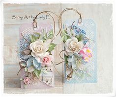 Scrap Art by Lady E: 2 Pastel Gift Tags / 2 Pastelowe Tagi Wild Orchid Crafts DT
