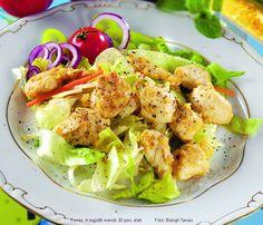 Hozzávalók: 60 dkg csirkemellfilé (pulyka is jó), 4 evőkanál méz, 3 evőkanál dijoni mustár (magos is lehet), 1 nagy vöröshagyma, 2 gerezd fokhagyma, 5 dkg vaj, só, őrölt fekete bors (a színes borskeverék még jobb), ... Potato Salad, Potatoes, Favorite Recipes, Cook Books, Meals, Cooking, Ethnic Recipes, Food, Kitchen