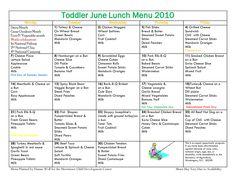 kids breakfast menu calendar   Sample Menus - Our Place Preschool ...