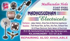 Madhusudhan electricals | Electrical meters | Zonalinfo House Fan, Electrical Appliances, Street, House Appliances, Electronic Devices, Roads