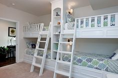 Built-in bunk beds for the grand kids!