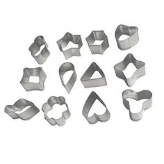 YeMarket 12 Pieces Stainless Steel Cookie Cutters Biscuit Mold Set * You can get more details by clicking on the image.