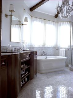 HGTV.com experts share sexy master bathrooms built for two. From oversized jacuzzi tubs to peekaboo walk-in showers, these steamy spaces will put you in the mood.