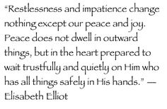 Elizabeth Eliot Quote