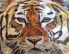 """Tiger""  Acryl auf Papier"