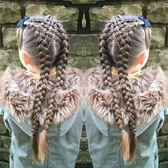 [Pic] large duel hair braids connected by small braids in corset fashion