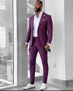 Mens Fashion Suits, Fashion Wear, Mens Suits, Trendy Mens Fashion, Dress Fashion, Gq Mens Style, Blazer Outfits Men, Black Suit Men, Classy Suits