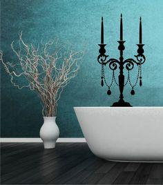 Wandtattoo - Kerzenständer 03 - Wandtattoo - ein Designerstück von CatrinKerschl bei DaWanda