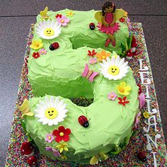 Number 5 Fairy Garden Cake | Flickr - Photo Sharing!