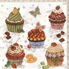 """Képtalálat a következőre: """"vintage cupcakes illustration"""""""