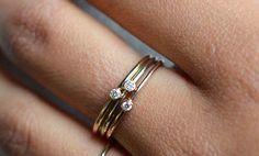24 Pretty Engagement Rings That'll Make You Cry Tears Of Joy Rough Diamond, Diamond Stone, Diamond Rings, Pretty Engagement Rings, Diamond Engagement Rings, Opal Rings, Stone Rings, Infinity Knot Ring, Love Knot Ring