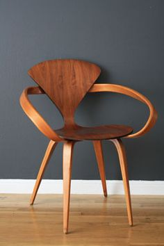 """Mid-Century """"Pretzel"""" chairs designed by Norman Cherner for Plycraft in the 1950's"""