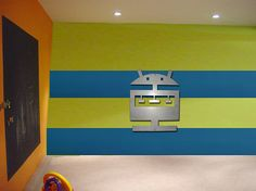 Robot Kids Art Metal Wall Art Kids Rooms by ColdEdgeGallery, $55.00