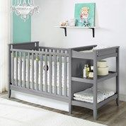 Or this one - Burlington: Emma Crib with built in changer and shelving