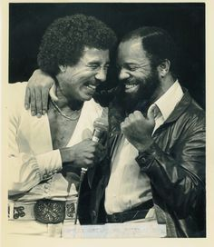 Smokey Robinson & Berry Gordy  - Happy Birthday Smokey Robinson!  #BlackHistory #Legends #Smokey | www.ShadesGifts.com