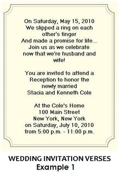 reception only invitation wording | wedding help & tips, Wedding invitations