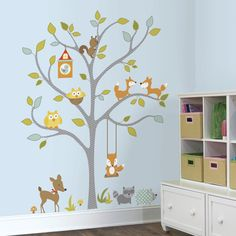 Found it at Wayfair - Chevy Woodland Fox and Friends Tree Wall Decal