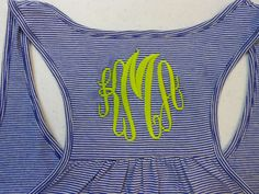 Monogram Tank!!    Can't wait for summer!    Monogram Racer Back Tank Top  Font Shown MASTER CIRCLE. $19.99, via Etsy.