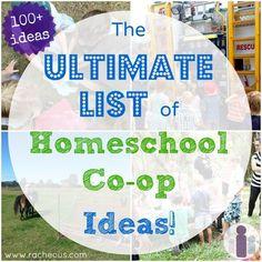 Ultimate List of Homeschool Co-op Ideas