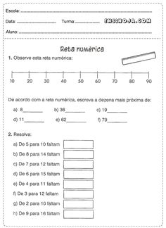 Atividades de matemática para imprimir 4° ano Sheet Music, Study, Teaching, Education, Math, School, Nova, Class Activities, Rounding Activities