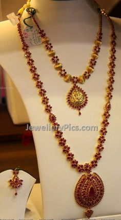 Latest Indian Jewellery designs and catalogues in gold diamond and precious stones Gold Jewelry For Sale, Gold Jewelry Simple, Ruby Jewelry, Ruby Necklace, Diamond Jewelry, Jewellery Sketches, Jewelry Sketch, Gold Jewellery Design, Fashion Jewelry