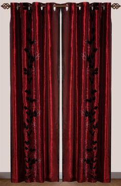Deep Burgundy Curtains Embody The Red Shades Seen In The Colour Scheme Chart The Burgundy Is