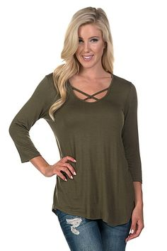 X Neck Tops are making a major style statement for fall 2016 and we are in LOVE! | Shop this product here: http://spreesy.com/BiologyBoutique/99 | Shop all of our products at http://spreesy.com/BiologyBoutique    | Pinterest selling powered by Spreesy.com
