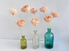 1 piece of paper ranunculus paper flowers by MyrtleAndQuince