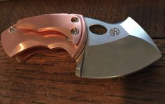 Custom Copper Boker Plus War Toad Friction TuffKnives
