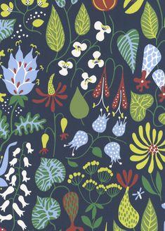 Herbarium wallpaper from Boras Tapeter