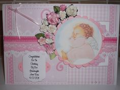 New Baby Girl Card by FOREVER KEEPSAKES