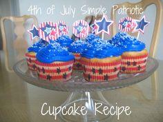 4th of July Simple Patriotic Cupcake Recipe