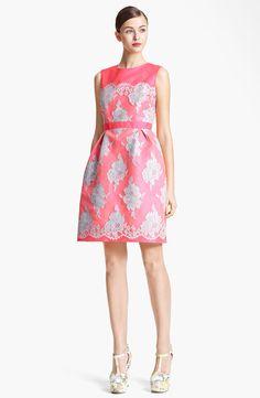 Full Skirt Mikado Silk & Lace Dress