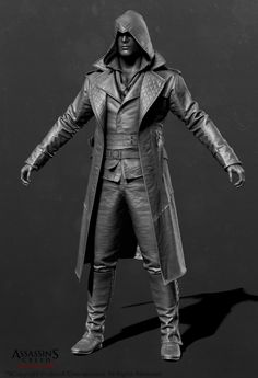 Assassin's Creed Syndicate - Jacob Outfit 03 Zbrush by Mathieu Goulet on ArtStation. Zbrush Character, 3d Character, Character Model Sheet, Character Modeling, Assassins Creed Jacob, Pirate Jacket, Anatomy Models, Costume Design, Assassin's Creed