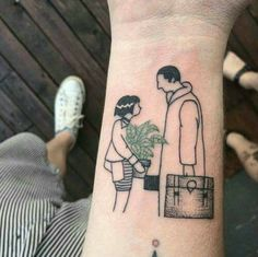 leon the professional <if you know who the tattoo artist is, lmk> Pretty Tattoos, Beautiful Tattoos, Future Tattoos, New Tattoos, Tatoos, Piercing Tattoo, Piercings, Leon The Professional, Handpoke Tattoo