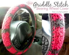 Free Steering Wheel Cover Crochet Pattern ~ I actually like this and want to do it :-)