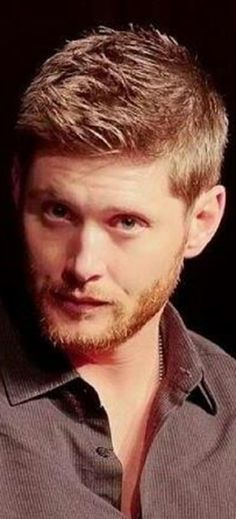 Jensen Ackles. OMG - he's looking at me! with the hair... and... the beard... and... the eyes and... i can't even....... *dead*