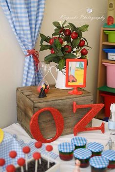 Wizard of Oz birthday party decorations! See more party planning ideas at CatchMyParty.com!