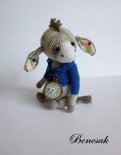 miniature crochet Donkey