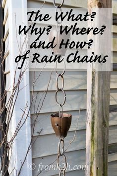 This rain chain information is the BEST! I didn't know what they were before and now I even know how to install it. Definitely getting one! Pinning for later!