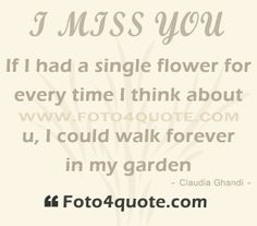 Missing you quotes – Thinking about you | Foto 4 Quote