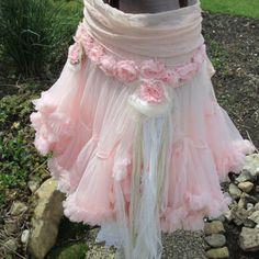 Shop Tattered Skirt on Wanelo